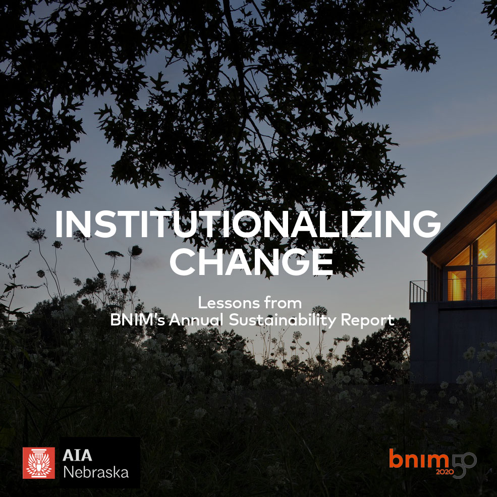 BNIM Sustainability Group members present Subject to Change at AIA Nebraska Annual Conference