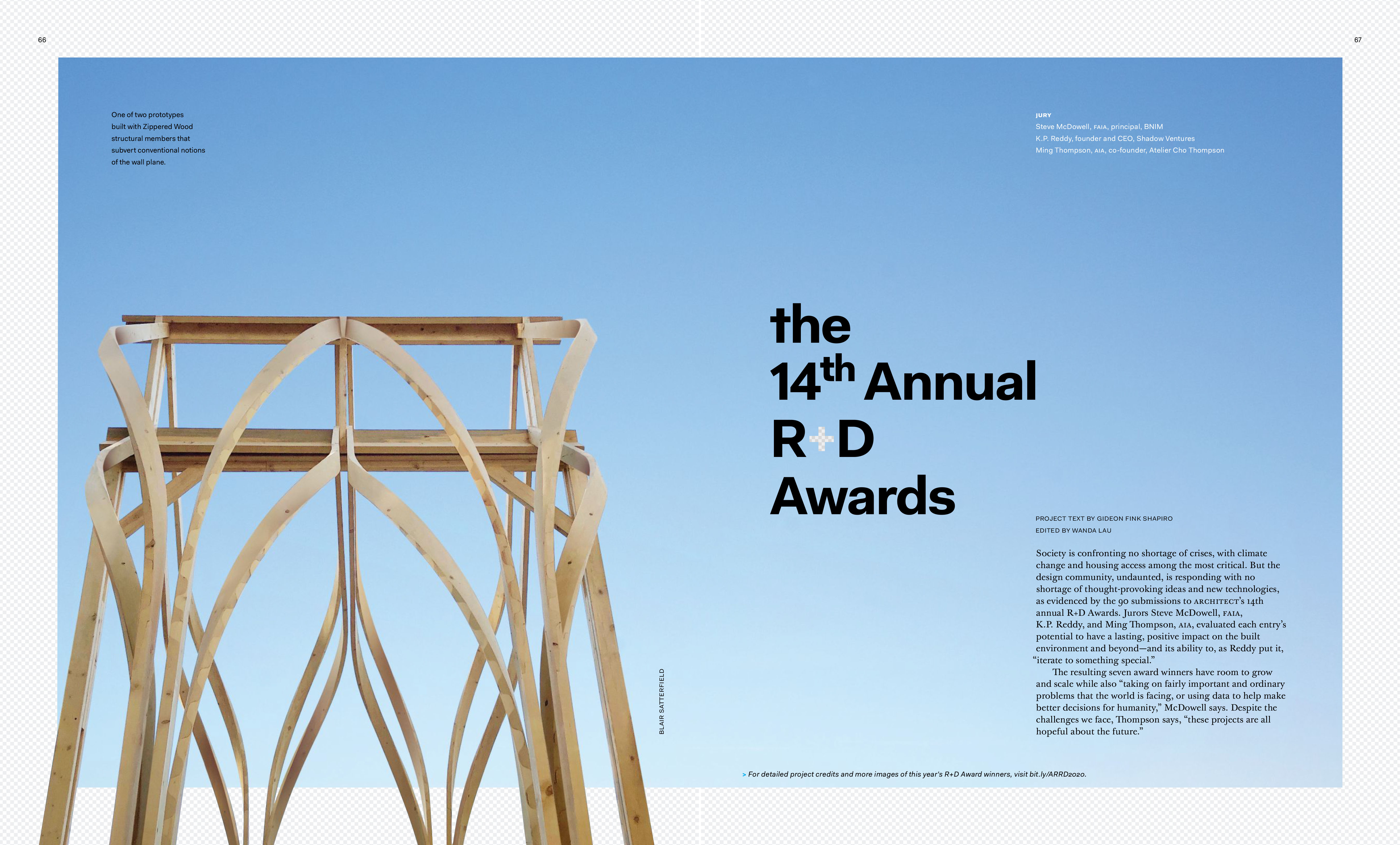Steve McDowell serves as juror of 14th Annual R+D Awards: Recipients featured in ARCHITECT Magazine