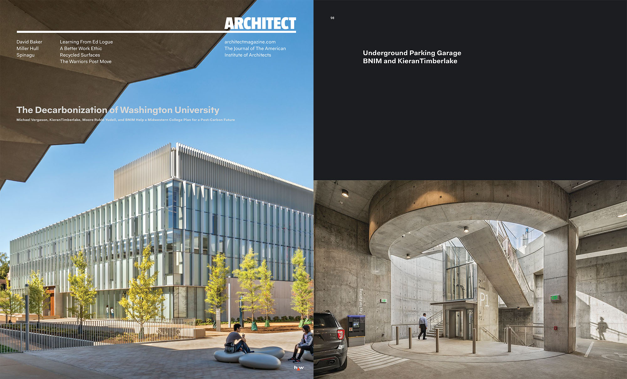 Washington University East Campus Garage featured in Architect Magazine