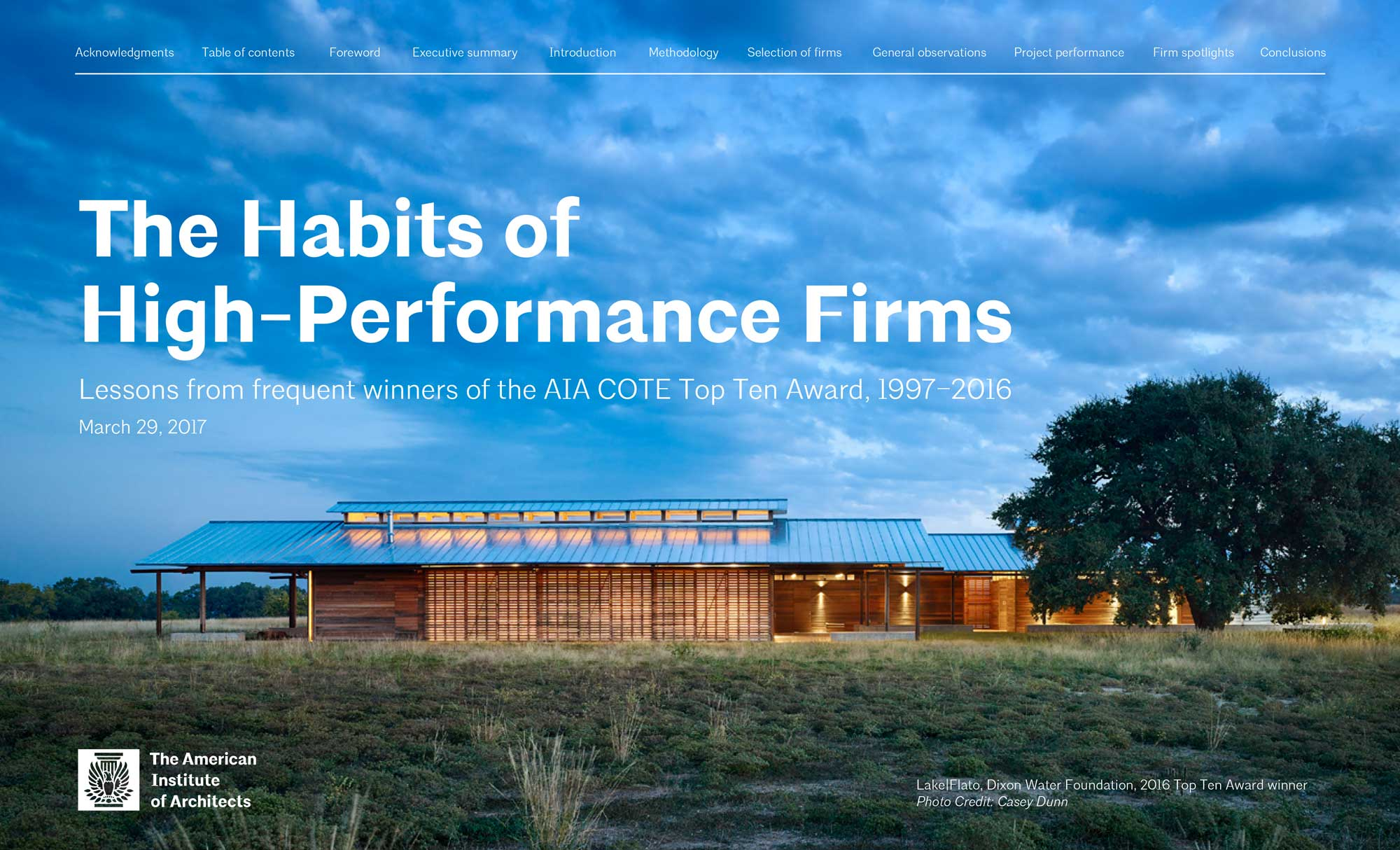 """BNIM Featured in the COTE Report """"The Habits of High-Performing Firms"""""""