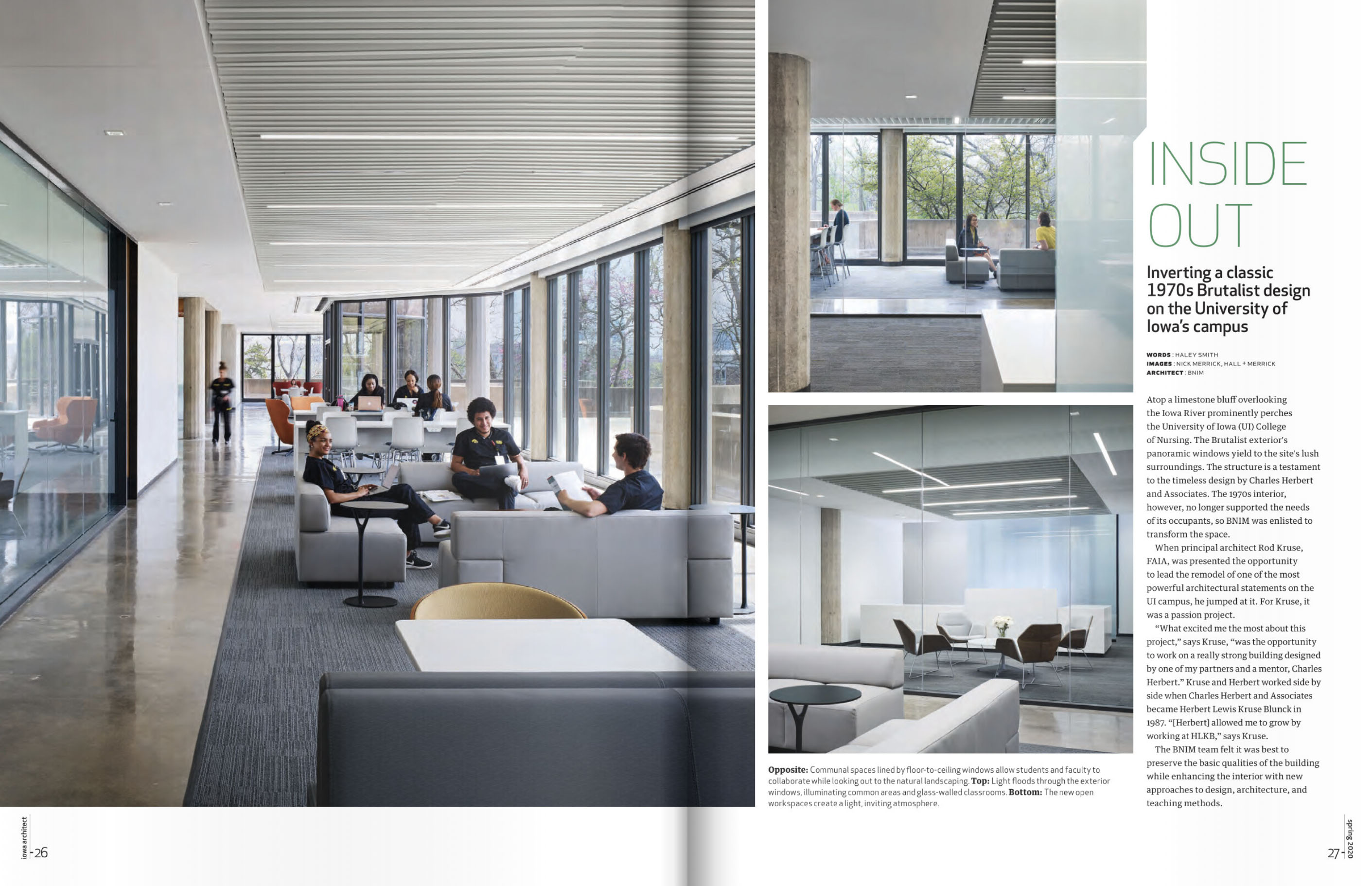 College of Nursing Modifications featured in Iowa Architect Spring 2020 Issue
