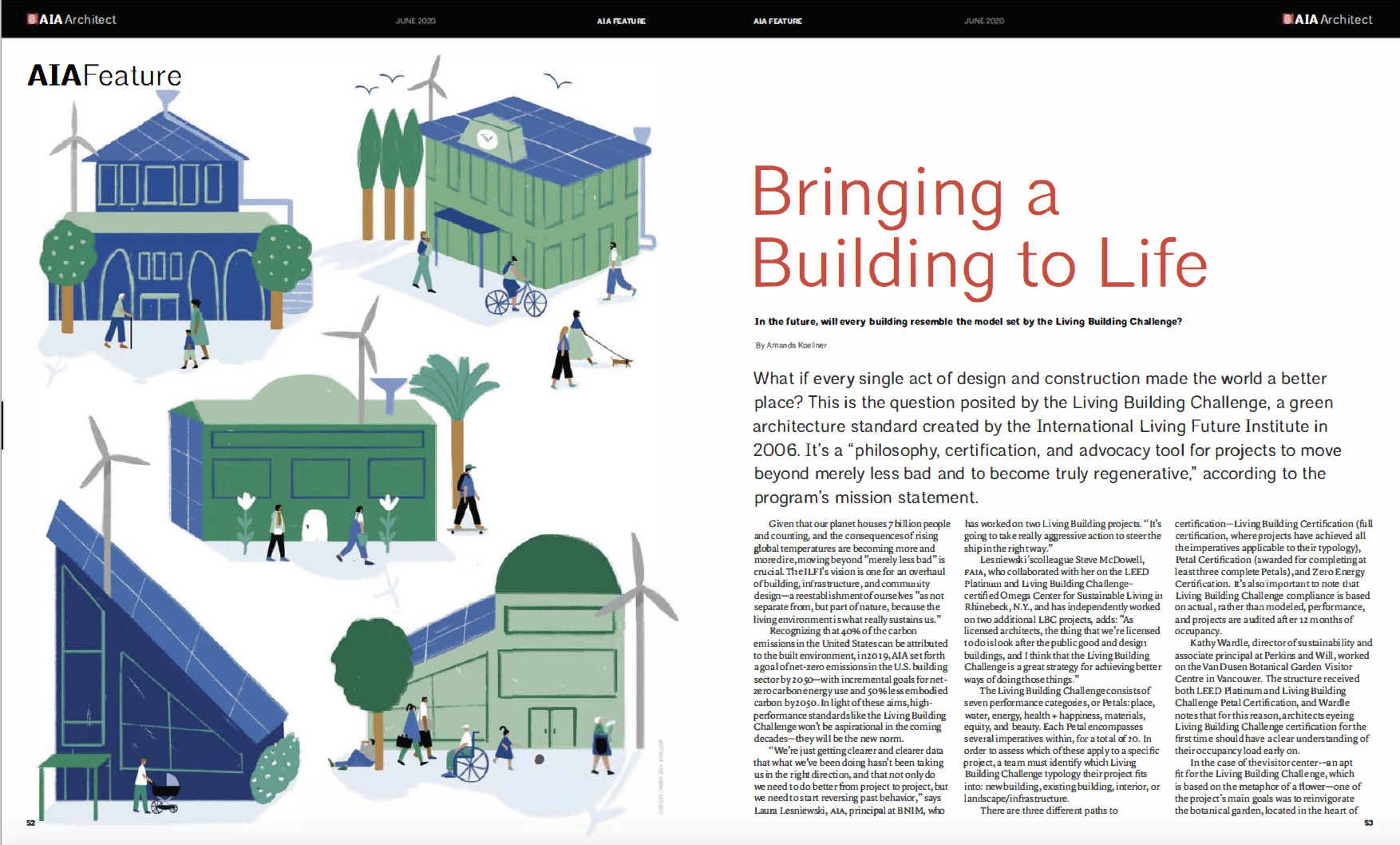 "Laura Lesniewski and Steve McDowell share insight in Architect Magazine AIA Feature ""Bringing a Building to Life"""