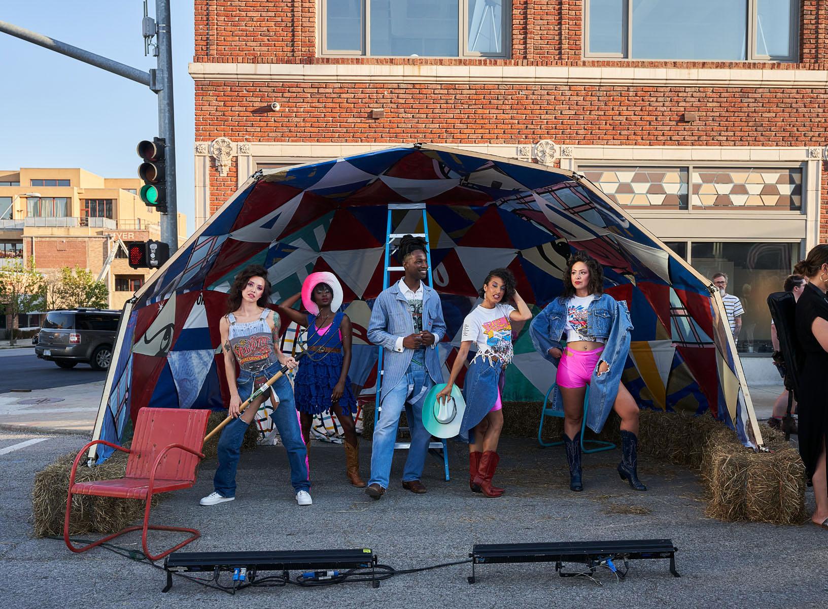BNIM Builds Set for Kansas City West 18th Street Fashion Show
