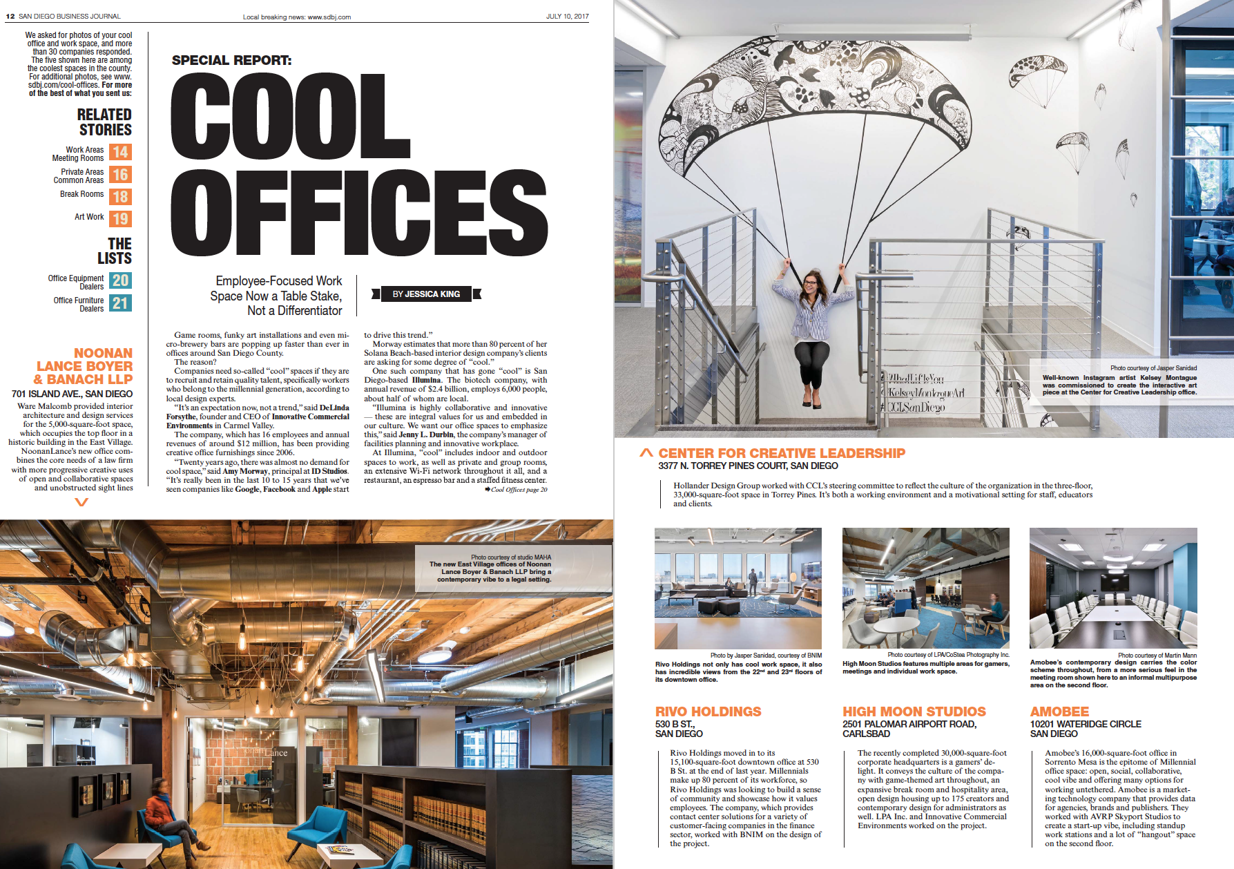 """Rivo Holdings named a """"Cool Office"""" by San Diego Business Journal"""